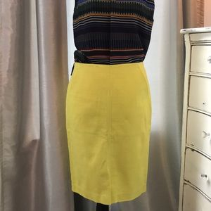 LOFT yellow pencil skirt - size 8 - NEW with tags
